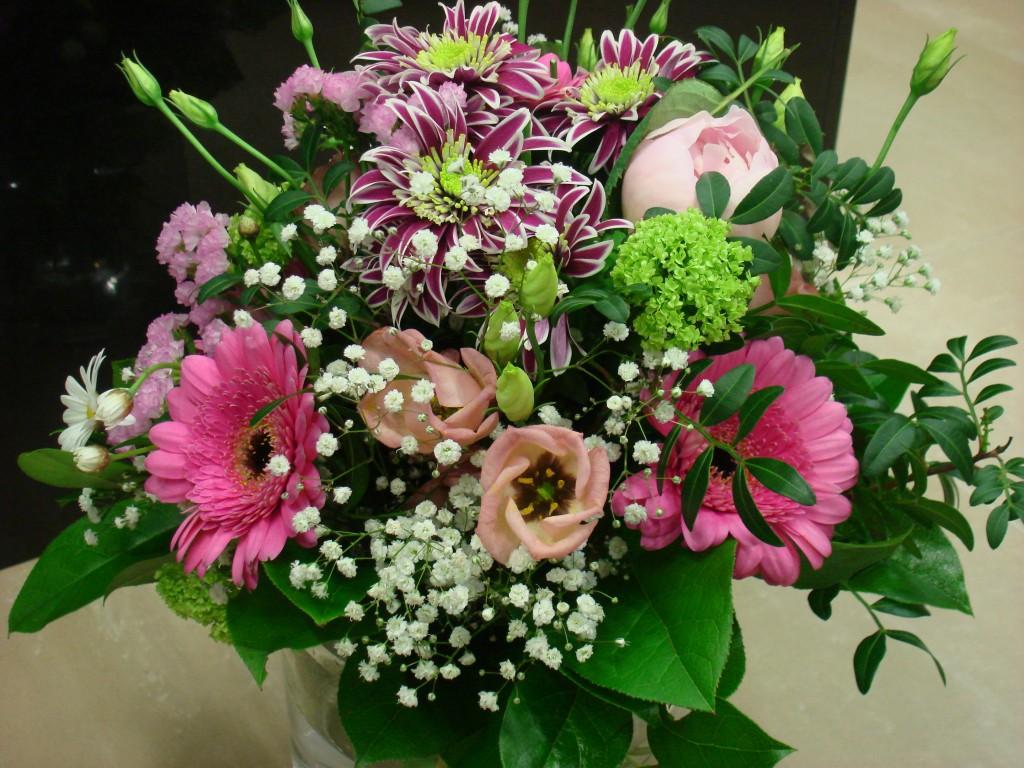 Blumenstrauß in Rosa und Lila